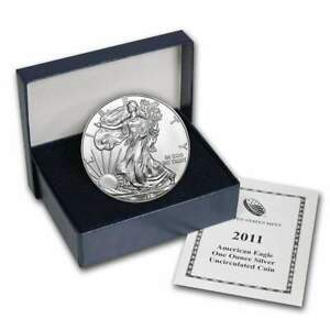 2011-W Burnished Silver Eagle 1oz Fine Bullion .999 w/ Box & Certificate OGP