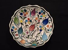 Klas Gini Handpainted Crackle Turkish Wall Plate