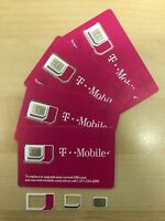 NEW T-Mobile 4G LTE SIM CARD Triple cut Mini , Micro , Nano  FITS ALL PHONES