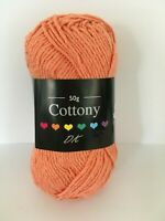 POPPY CYGNET COTTONY DK Wool 50g Double Knit Knitting Cotton Crochet Yarn Red