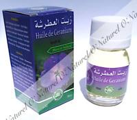 Huile de Géranium (Macérât) 100% Naturelle 30ml Geranium Oil, Aceite de Geranio