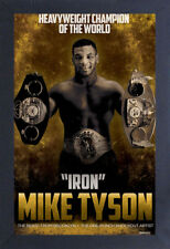 MIKE TYSON IRON 13x19 FRAMED GELCOAT POSTER BOXING CHAMPION FIGHTING NEW YORK!!!
