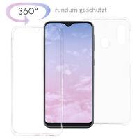 Samsung Galaxy A20e Panzerfolie 360 grad Handy Hülle Full Cover Case Schutz TPU