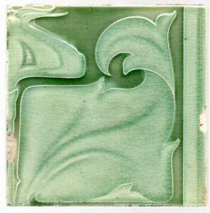 C F A Voysey for Pilkington an Arts and Crafts majolica tile original circa 1902
