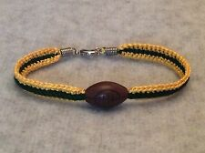 Green Bay Packers Women's Gold & Green Handmade Bracelet W/ Football Bead!!!