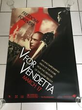V For Vendetta - Freedom Forever one sheet movie poster (2006)