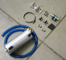 UNIVERSAL OIL CATCH CAN/TANK/AIR-OIL SEPARATOR SILVER