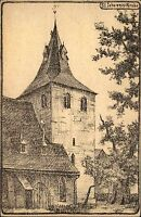 Wernigerode Künstlerkarte ~1914/18 Zeichnung Partie an der St. Johannis Kirche