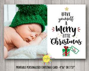 Personalised A Merry Little Christmas Photo Cards Print Your Own or We Print