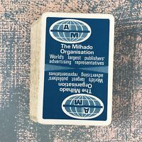 Vintage Playing Cards Advertising The Mihado Organisation Publishers Blue