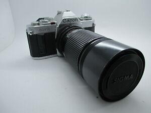 Canon AV-1 35mm SLR Film Camera with Zoom Lens FD Mount Tested Working