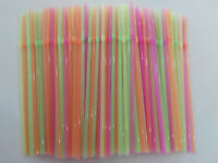 900pc Colourful Straight Straws Disposable Drinking Straw Plastic Party Straws