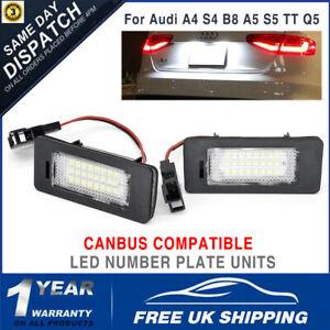 2pcs LED License Number Plate Light Lamp Units For Audi TT A4 S4 A5 S5 B8 Q5 VW