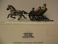 """Dept 56 Heritage Village Accessory """"Dashing Through the Snow"""" - Missing the Whip"""