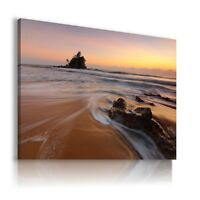 SEA SUNSET BEACH View Canvas Wall Art Picture Large SIZES  L261  X MATAGA