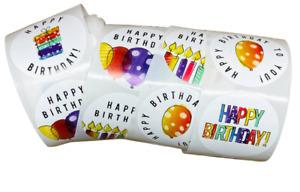 40pcs 38mm Happy Birthday Sticker Thank you Sticker Birthday Gift Seal 6STYLES