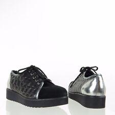 Womens Aquatalia Aida Shoes Black Leather Suede Fashion Sneakers Sz 8 M NEW $375