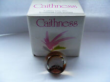 Caithness  Congratulations  50  Birthday  Or Anniversary Amber Glass Paperweight