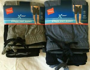 NWT Hanes Men's Knit Cotton & Blend Sleepwear SHORT Lounge 2 SHORTS X-Temp Sleep