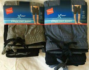 NWT Hanes Men's Knit Cotton & Blend Sleepwear SHORT Lounge 2 SHORTS X-Temp Sleep