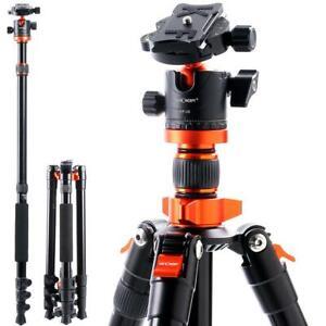 K&F Concept 62''Camera Tripod Travel Detachable Monopod for DSLR Canon SA254M1