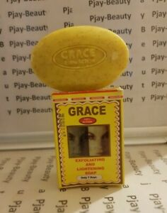 GRACE  LIGHTENING AND EXFOLIATING SOAP. DRYS PIMPLES AND SPOTS PJAY-BEAUTY
