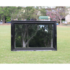 Wooden Large Jet Black Mirror on Mirror with Beaded Frame 91CM * 60CM