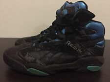 1992 SHAQ ATTAQ Vintage Reebok THE PUMP Black Basketball Shoes Sz 10 US Men