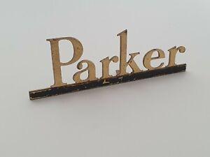 Vintage PARKER Fountain Pen Metal Sign Display