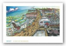 A Day at the Beach Aaron BOGY Bogushefsky Art Print 18x32
