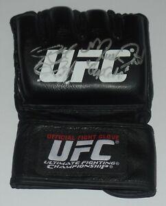 RONDA ROUSEY MIESHA TATE SIGNED AUTO'D UFC OFFICIAL FIGHT GLOVE BAS COA 168 WWE
