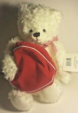 White Bear Zippered Heart Bag Plush Stuffed ~ From My Heart ~ Hallmark Valentine