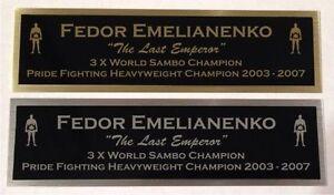 Fedor Emelianenko UFC nameplate for signed mma gloves photo display case