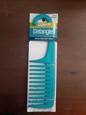 "Conair Detangle Shower Comb Teal 9"" Ideal For Wet Hair"