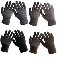 New Men Male Soft Winter Warm Touchscreen Fleece Lined Thermal Knitted Gloves