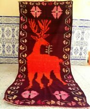 "Vintage Moroccan Handmade Rug Tribal Kilim Carpet azilal wool Berber 7'6"" x 3'2"""