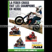 FEBER MOTO CROSS KTM, HONDA CRONO, JEEP 1986 - Pub / Publicité / Ad #A1579