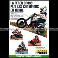Feber moto cross ktm, honda, jeep crono 1986-pub/advertising/ad #a1579