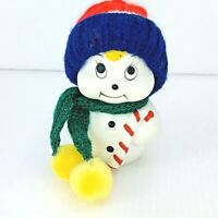 Giftco Snow Bells Handcrafted Bisque Porcelain Snowman Christmas Ornament Bell