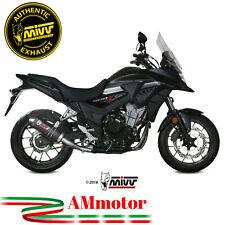 Mivv Honda Cb 500 X 2019 19 Terminale Di Scarico Oval Carbon Cap Moto Omologato