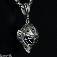NEW exact copy GOALIE MASK charm pendant ice hockey champion sterling silver