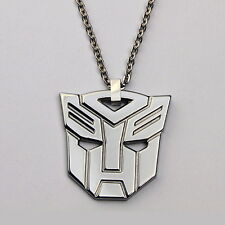 Tungsten Carbide Superhero Transformers AUTOBOT Necklace with Chain