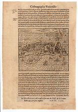 GREECE THEVET 1575 MAP OF RHODES RHODOS RODOS RHODI