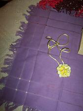 "VINTANGE CERAMIC NECKLACE (NEVER WORN)ORIGINAL BOX 1 3/4"" FLOWER-YELLOW"