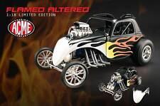 GMP FIAT HEMI FUEL ALTERED ACME BLACK FLAMED VINTAGE TOPOLINO HOT ROD 1:18