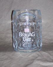 BrauAG Bier 0.5L Glass Mug Krug or Siedel Brau-Union AG