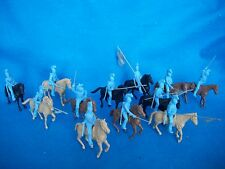 CLASSIC TOY SOLDIERS Napoleonic+Alamo Mexican heavy cavalry Lt Blue +horses X12