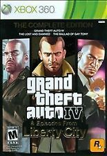XBOX 360 FAMOUS GRAND THEFT AUTO IV GTA EPISODES FROM LIBERTY CITY VIDEO GAME