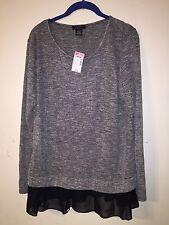 NWT Grey Deb Shops Long Sleeve Winter Warm Shirt Dressy Women's 2X Plus Size