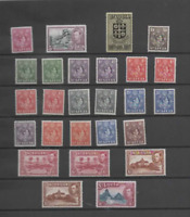 ST. LUCIA 1938-48 KGVI SET OF 26 (SG 128-141) MINT